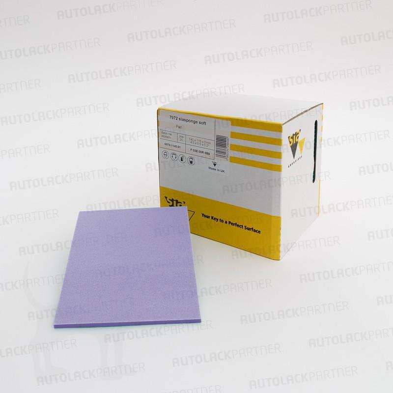 sia 7972 siasponge Pad (PU), microfine, 115 x 140 x 5 mm, 20 Stück