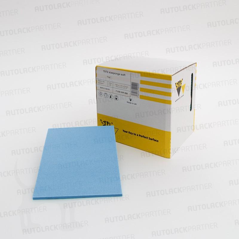 sia 7972 siasponge Pad (PU), ultrafine, 115 x 140 x 5 mm, 20 Stück